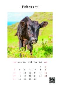 家畜写真家カレンダー